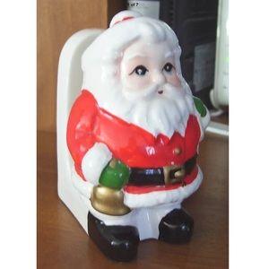 Vintage Lefton China Figural Santa Napkin Holder